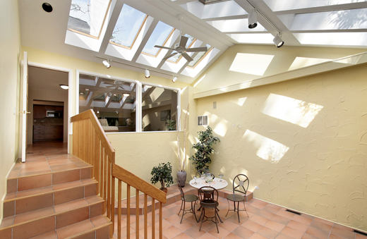Skylights installed over patio in los angeles